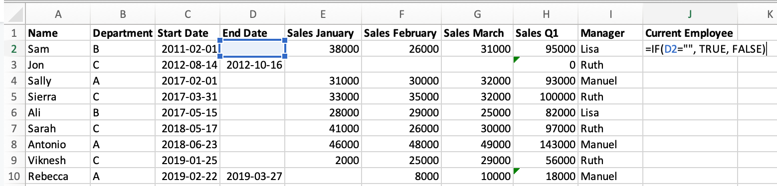 if formula using excel