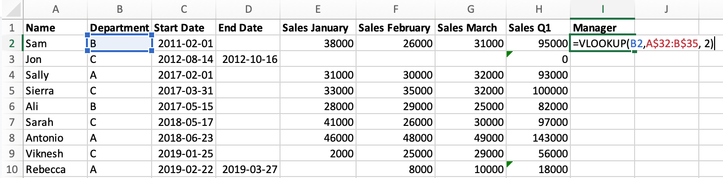 vlookup to join data in excel